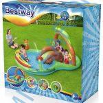 Bestway felfújható medence labdákkal, csúszdával Róka 295x199x130cm