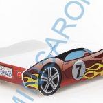 Autós piros gyerekágy 160×80 cm matraccal
